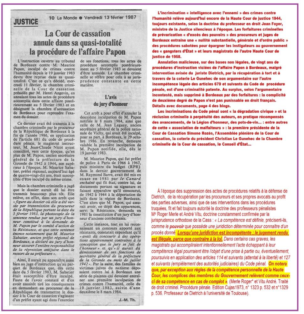 1° Politique. Escroqueries.  Justice triche. Avocats, Notaires corruptions (6/6)
