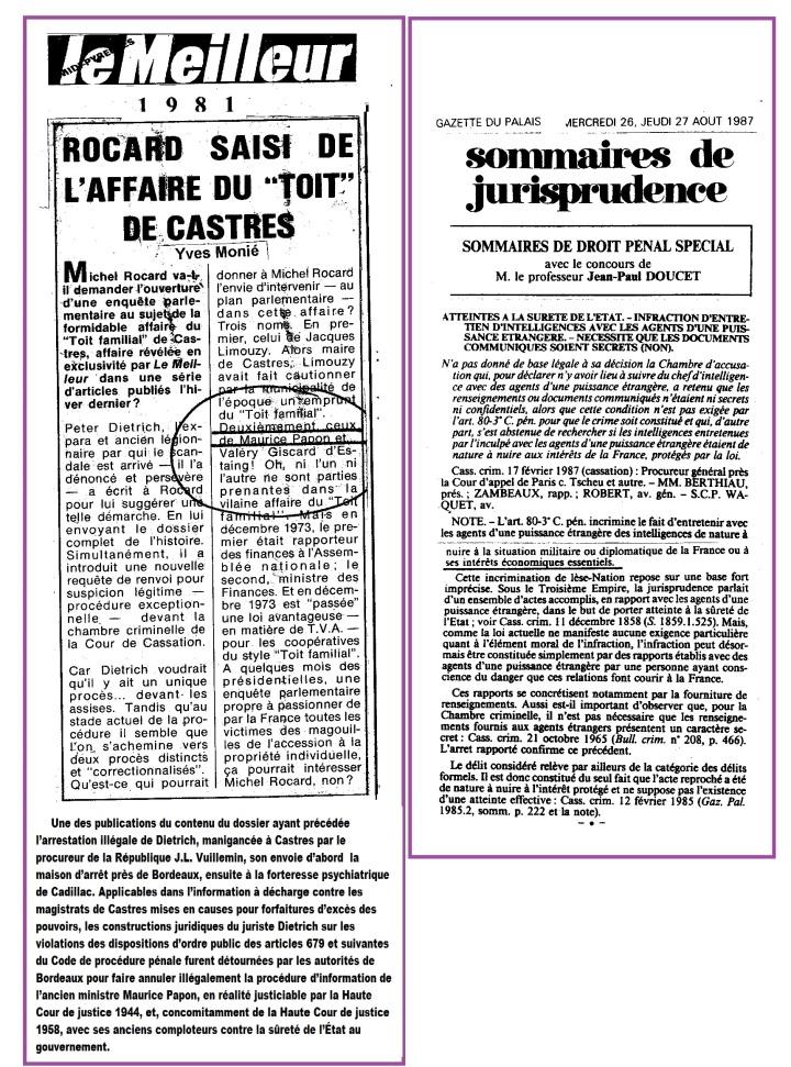 Roccard intérets économiques Toit Castres