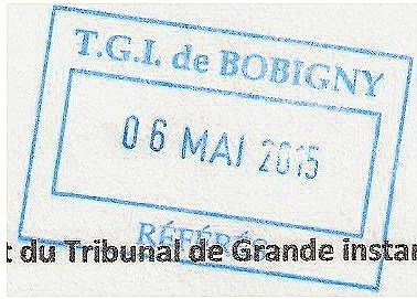 Bobigny tampon 6 05 15