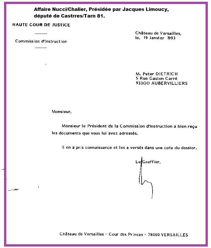 Haute Cour Reception Dossier
