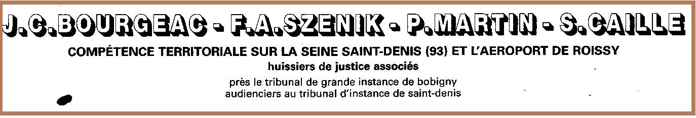 Huissiers SZENIK Saint Denis entête