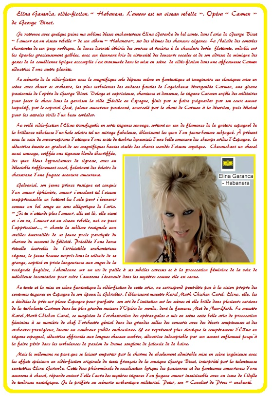 Elïna Garanča 14 Habanera la conquérante &Prose.