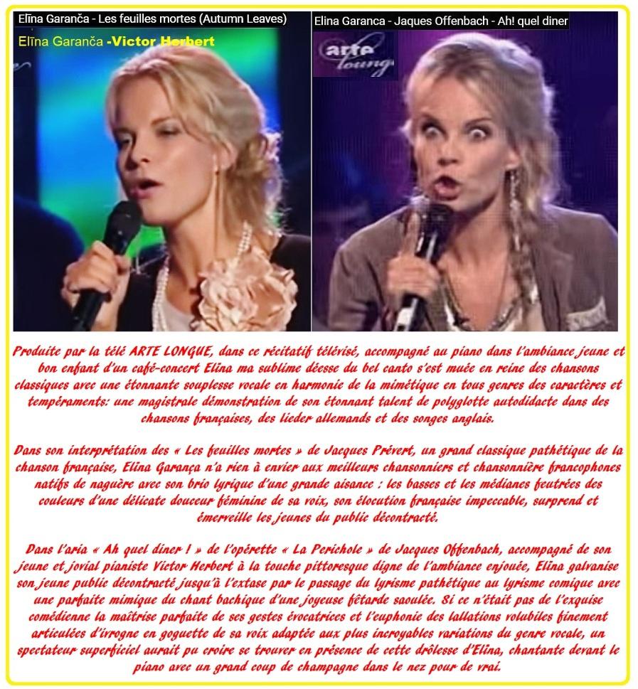 Elïna Garanča 20 - Les feuilles mortes. & Ah! quel diner!
