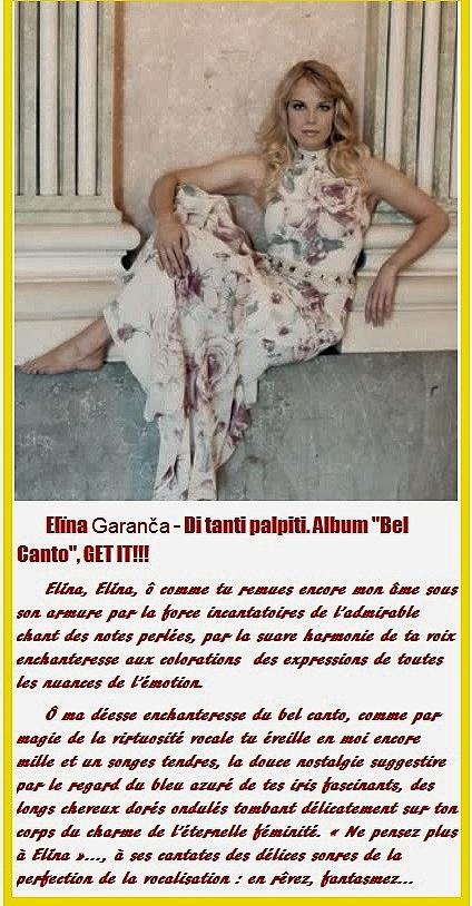 Elïna Garanča - Di tanti palpiti. Album 'Bel Canto', GET IT.