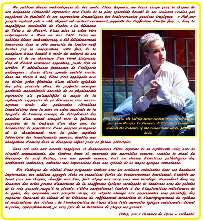 Elīna Garanča 36 B Deh, per questo istante solo & prose