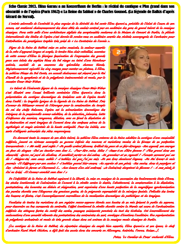 Elina Garanca 41 Texte La Reine de Sabat