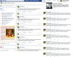 Facebook et Twitter activitésantipolitiques