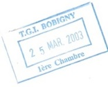 Tampon Bobigny 25 mars 2003