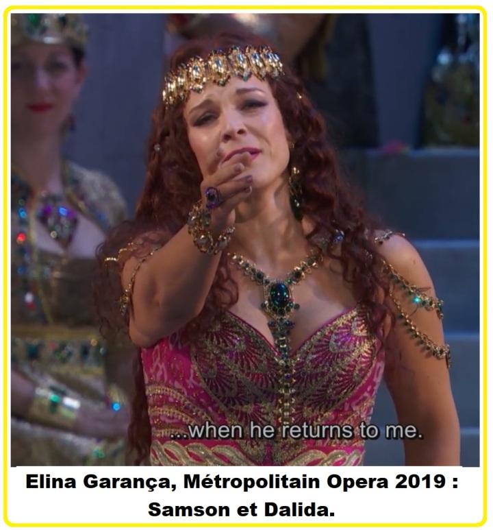 Elïna Garanča Opéra Samson et Dalida Met 2019