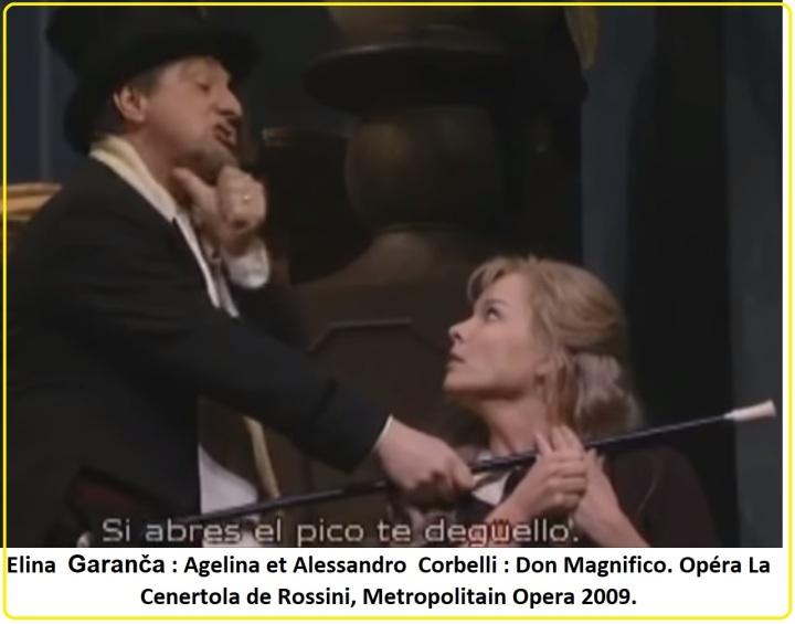 2 Elina Garanča Agelina et Alessandro Corbelli Don Magnifico Opéra La Cenertola de Rossini