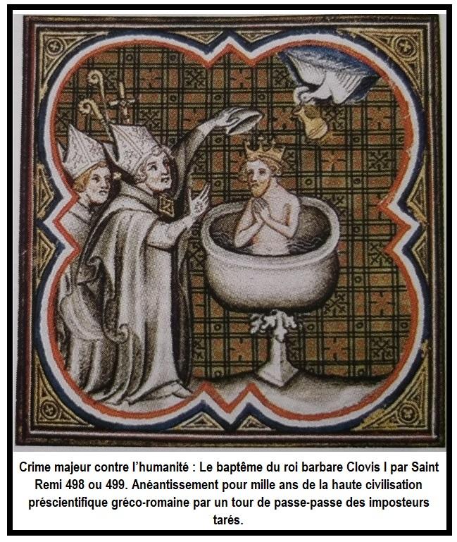 Clovis I baptême par Saint Rémi
